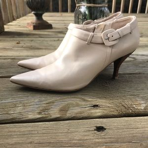 Nine West Off White Cream Booties Ankle Boots 6.5